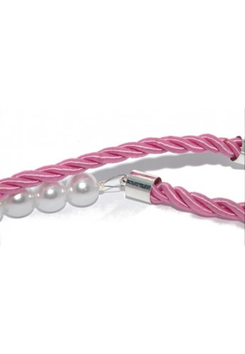 Pink Cord with Pearls