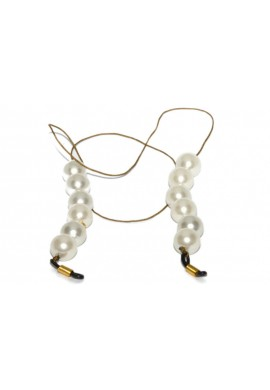 Flax Cord with Pearls